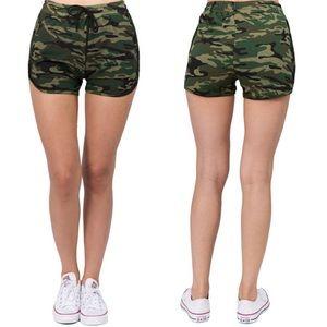 Pants - Camo Print Pocket Shorts